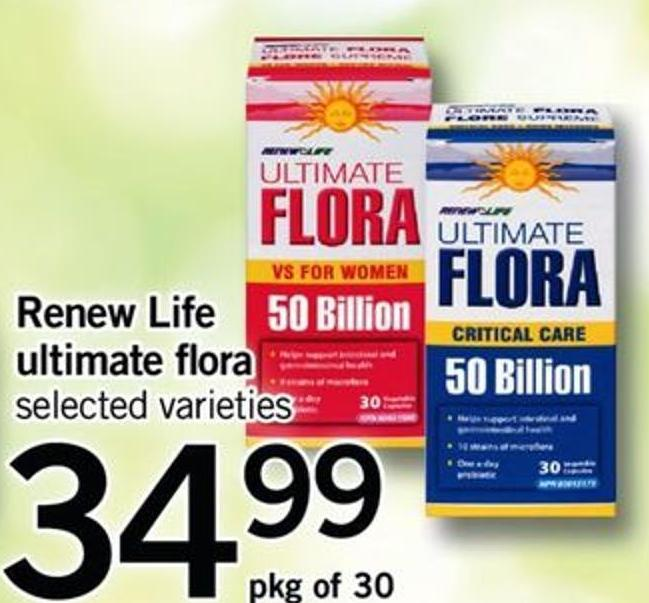 Renew Life Ultimate Flora.pkg Of 30