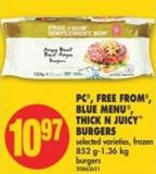 PC - Free From - Blue Menu - Thick N Juicy Burgers - 852 G-1.36 Kg