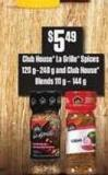 Club House La Grille Spices - 120 g – 248 g And Club House Blends - 111 g – 144 g