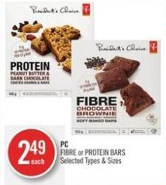 PC Fibre or Protein Bars