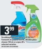 Scrubbing Bubbles Cleaner 710/950 Ml - Fantastik All Purpose 650 Ml - Windex Glass Cleaner 765 Ml Or Wipes 28's