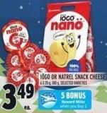 Iögo Or Natrel Snack Cheese 6 X 20 g - 100 g