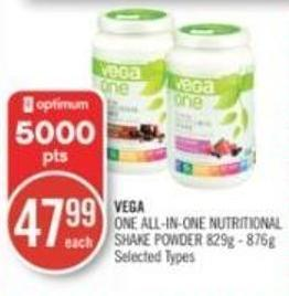 Vega One All-in-one Nutritional Shake Powder 829g - 876g