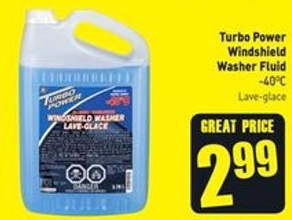 Turbo Power Windshield Washer Fluid -40oc