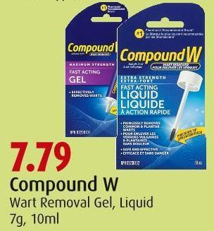 Compound W Wart Removal Gel - Liquid 7g - 10ml