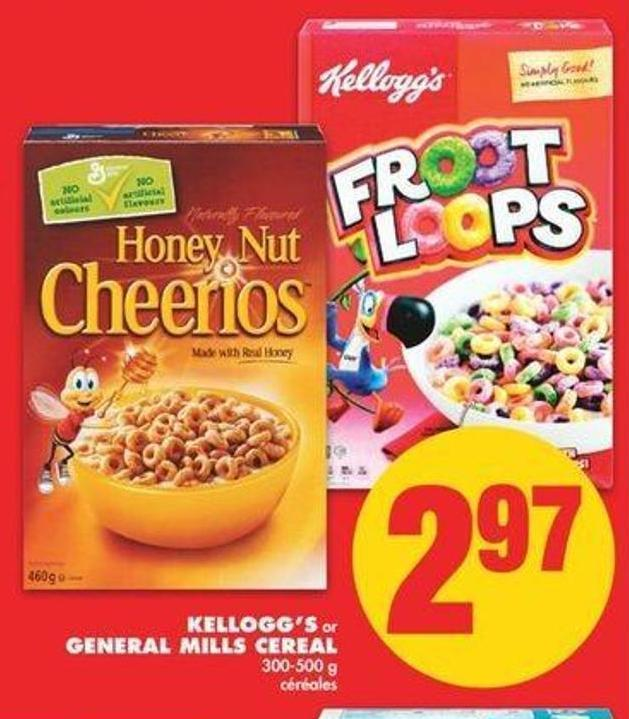 Kellogg's Or General Mills Cereal - 300-500 G