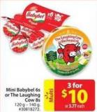 Mini Babybel 6s or The Laughing Cow 8s