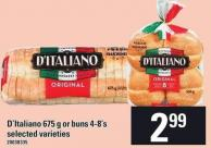 D'italiano 675 G Or Buns 4-8's