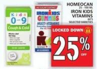 Homeocan Or Iron Kids Vitamins