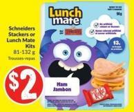 Schneiders Stackers or Lunch Mate Kits 81-132 g