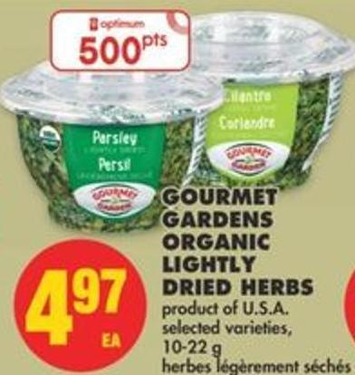 Gourmet Gardens Organic Lightly Dried Herbs - 10-22 g