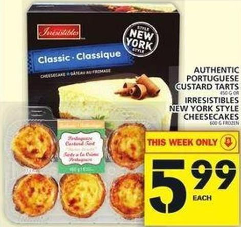 Authentic Portuguese Custard Tarts Or Irresistibles New York Style Cheesecakes