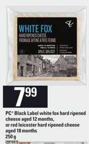 PC Black Label White Fox Hard Ripened Cheese Aged 12 Months Or Red Leicester Hard Ripened Cheese Aged 18 Months