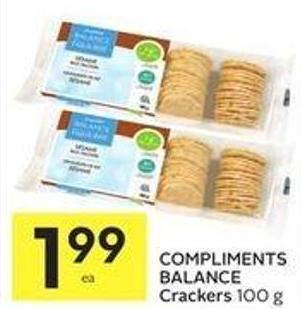 Compliments Balance Crackers