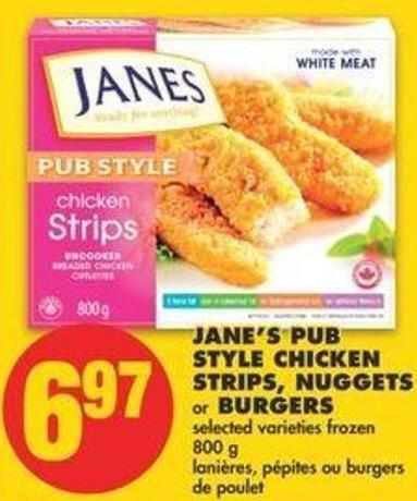 Jane's Pub Style Chicken Strips - Nuggets Or Burgers - 800 G