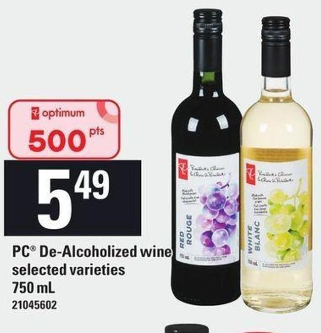 PC De-alcoholized Wine - 750 mL