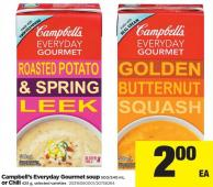Campbell's Everyday Gourmet Soup - 500/540 mL Or Chili - 425 g