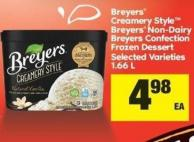 Breyers Creamery Style Breyers Non-dairy Breyers Confection Frozen Dessert - 1.66 L