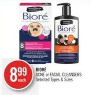 Bioré Acne or Facial Cleansers
