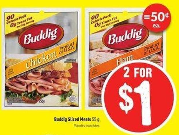 Buddig Sliced Meats 55 g