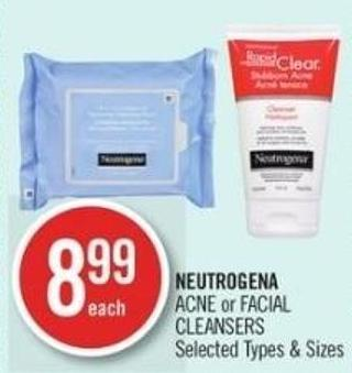 Neutrogena  Acne or Facial Cleansers