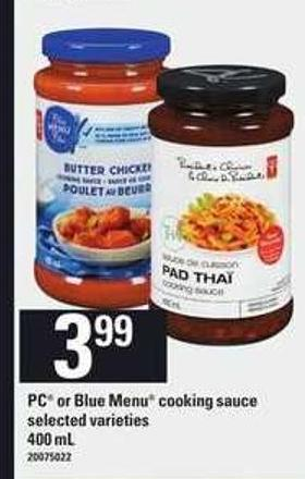 PC Or Blue Menu Cooking Sauce - 400 mL