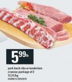 Pork Back Ribs Or Tenderloin Cryovac Package Of 2