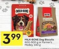 Milk-bone Dog Biscuits 600-900 g or Farmer's Medley 340 g