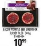 Marc Angelo Bacon Wrapped Beef Sirloin Or Turkey Filet - 340 G
