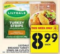 Lilydale Breaded Turkey Strips Or Cutlets