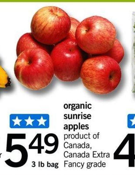 Organic Sunrise Apples - 3 Lb Bag