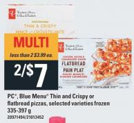 PC - Blue Menu Thin And Crispy Or Flatbread Pizzas - 335-397 g