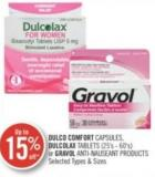 Dulco Comfort Capsules - Dulcolax Tablets (25's - 60's) or Gravol Anti-nauseant Products