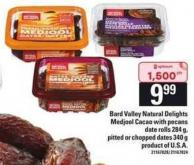 Bard Valley Natural Delights Medjool Cacao With Pecans Date Rolls 284 G - Pitted Or Chopped Dates 340 G