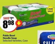 Paldo Bowl Noodle Soup Selected Varieties - Case