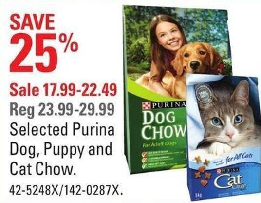 Selected Purina Dog - Puppy and Cat Chow