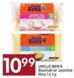 Uncle Ben's Basmati Or Jasmine Rice