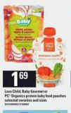 Love Child - Baby Gourmet Or PC Organics Protein Baby Food Pouches
