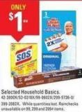 Selected Household Basics