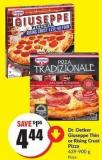 Dr. Oetker Giuseppe Thin or Rising Crust Pizza 439-900 g