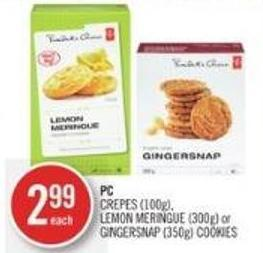PC Crepes (100g) - Lemon Meringue (300g) or Gingersnap (350g) Cookies