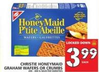 Christie Honeymaid Graham Wafers Or Crumbs