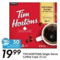 Tim Hortons Single Serve Coffee Cups30 Pk - 30 Air Miles Bonus Miles