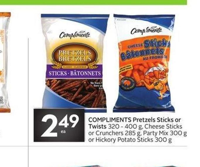 Compliments Pretzels Sticks or Twists