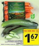 Seedless Cucumbers Or Carrots