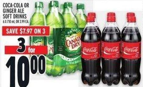 Coca-cola Or Ginger Ale Soft Drinks