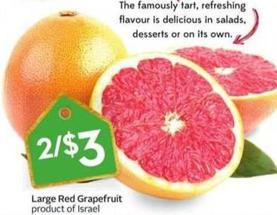 Large Red Grapefruit Product of Israel