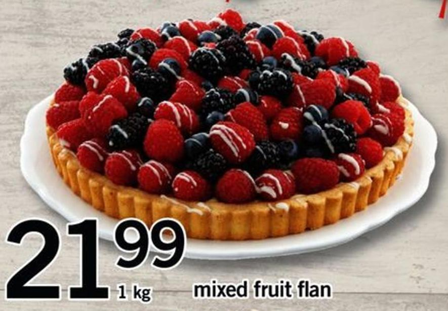 Mixed Fruit Flan - 1 Kg