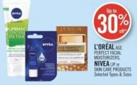 L'oréal Age Perfect Facial Moisturizers - Nivea Lip or Skin Care Products