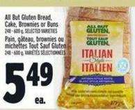All But Gluten Bread - Cake - Brownies Or Buns 248 - 600 g